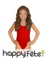 Body rouge pour enfant, sans manches