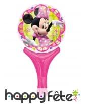 Ballon raquette rose de Minnie Mouse, 15 x 30 cm