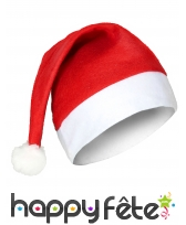 Bonnet rouge souple de père Noël