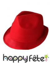 Borsalino rouge uni pour adulte