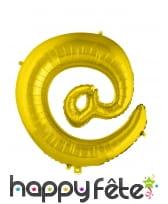 Ballon symbole arobase doré de 70cm