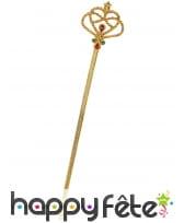 Baguette sceptre dorée de 38cm