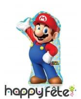 Ballon silhouette de Mario, 55 x 83 cm