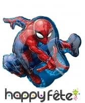 Ballon silhouette de Spiderman de 43 x 73cm