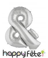 Ballon symbole et argenté de 80cm