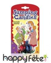 Bonbons sauteurs, farce et attrape