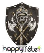 Bouclier squelette haches croisées, 48cm