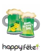 Ballon Saint Patrick chopes de bière de 81 cm