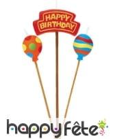 Bougie thème anniversaire sur pic, image 1