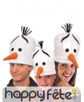 Bonnet tête de bonhomme de neige, image 1
