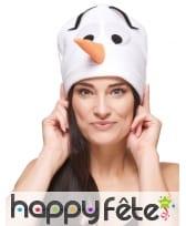 Bonnet tête de bonhomme de neige