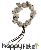 Bracelet tetes de mort et os, image 1