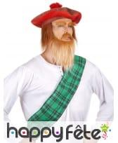 Beret tartan écossais avec cheveux, image 1