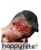 Blessure tête fracturée en latex