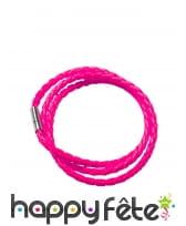 Bracelet tressé fluo, image 2