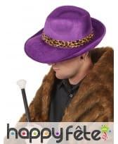 Borsalino violet bandeau léopard, image 1