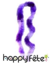 Boa violet et parme de 2m