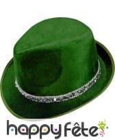 Borsalino vert en velours