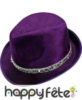 Borsalino violet en velours