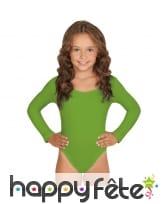 Body vert manches longues pour enfant