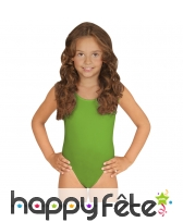 Body vert pour enfant, sans manches