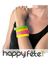 Bracelet zip fluo pour adulte