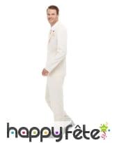 Costume 3 pièces blanc pour homme, image 1