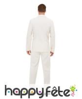 Costume 3 pièces blanc pour homme, image 2