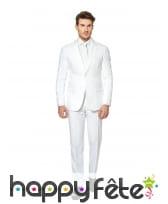 Costume 3 pièces blanc uni, image 1