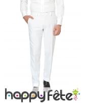 Costume 3 pièces blanc uni, image 2