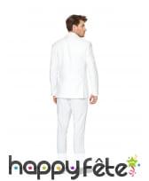 Costume 3 pièces blanc uni, image 3