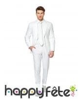 Costume 3 pièces blanc uni