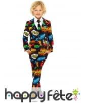 Costume 3 pièces bulles de BD pour enfant
