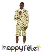 Costume 3 pièces d'été imprimé tournesols, homme, image 1