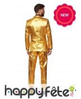 Costume 3 pièces doré uni, image 1