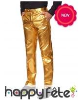 Costume 3 pièces doré uni, image 2