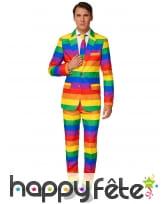 Costume 3 pièces gaypride pour homme