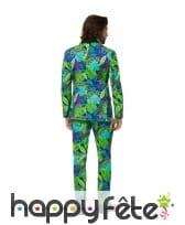 Costume 3 pièces imprimé feuilles tropicales homme, image 1