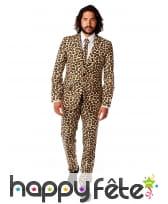 Costume 3 pièces imprimé léopard
