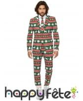 Costume 3 pièces kitsch de Noel pour homme