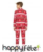 Costume 3 pièces rouge de Noël pour ado, image 1
