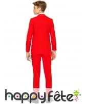 Costume 3 pièces rouge uni pour ado, image 1
