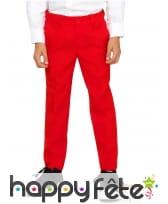 Costume 3 pièces rouge uni pour enfant, image 1