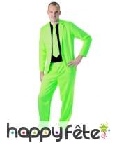 Costume 3 pièces vert fluo