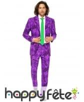 Costume 3 pièces violet du Joker