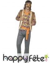 Costume années 60 motifs hippie pour homme, image 1
