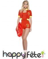 Costume alertes à Malibu sexy rouge, image 4