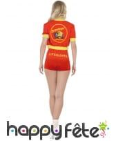 Costume alertes à Malibu sexy rouge, image 6