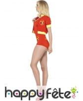 Costume alertes à Malibu sexy rouge, image 7