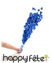 Canon à confettis bleus de 20 cm